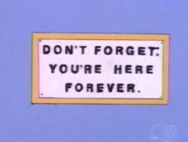 Don't forget you're here forever
