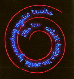 Nauman the true artist helps the world by revealing mystic truths